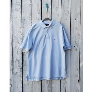 Tommy Hilfiger Men's Baby Blue Polo Shirt Size XL